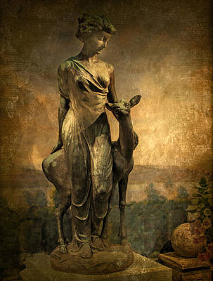 Golden Digital Art - Golden Lady by Jessica Jenney