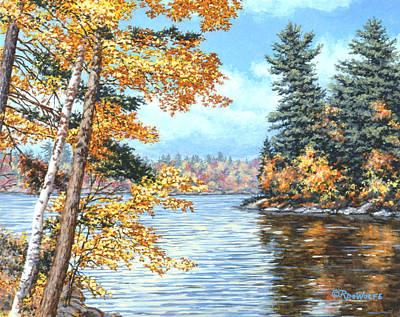 Golden Lake Art Print by Richard De Wolfe
