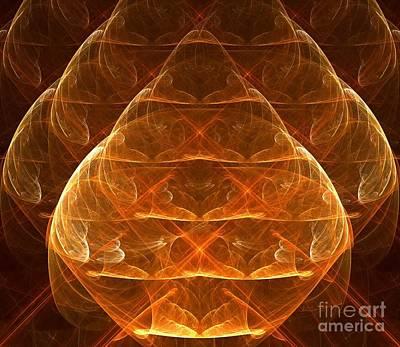 Digital Art - Golden Lamps by Yali Shi