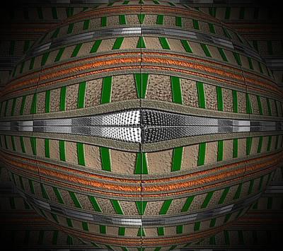 Digital Art - Golden Lava Ball by Michael Hurwitz