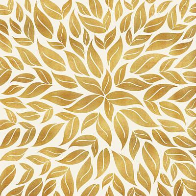 Mixed Media - Golden Leaf Mandala by Kristian Gallagher