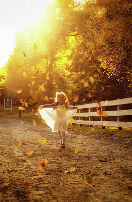 Photograph - Golden Leaves by Lilia D