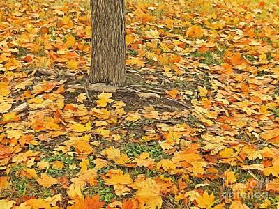 Avant Garde Photograph - Golden Leaves by Scott Cameron