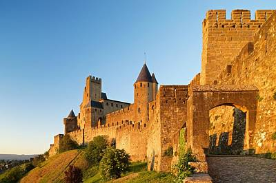 Photograph - Golden Light At Carcassonne by Stephen Taylor