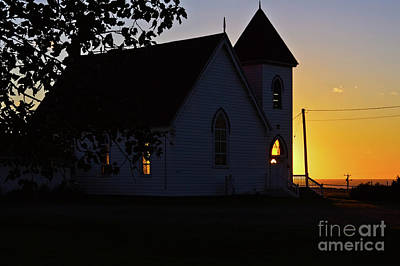 Photograph - Golden Light At The Church by Tatiana Travelways