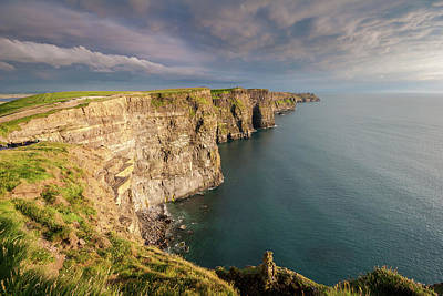 Photograph - Golden Light At The Cliffs Of Moher by Pierre Leclerc Photography