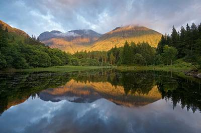 Photograph - Golden Light At The Torren Lochan by Stephen Taylor