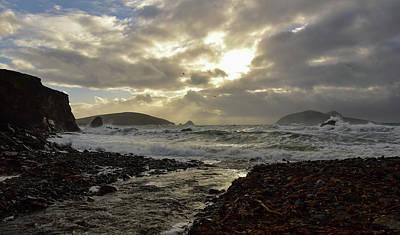 Photograph - Golden Light Blasket Islands by Barbara Walsh