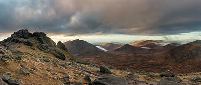 Photograph - Golden Light Breaking On Slieve Bearnagh  by Glen Sumner