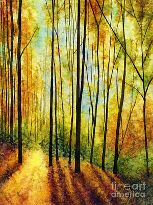 Print featuring the painting Golden Light by Hailey E Herrera