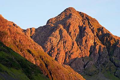 Photograph - Golden Light Hits Bidean Nam Bian by Stephen Taylor