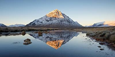 Photograph - Golden Light Hits The Top Of Stob Dearg by Stephen Taylor