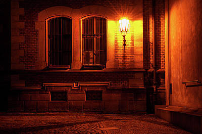 Photograph - Golden Light Of Night Street by Jenny Rainbow