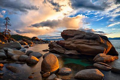 Photograph - Golden Light On Nature's Rock Garden by Renee Sullivan