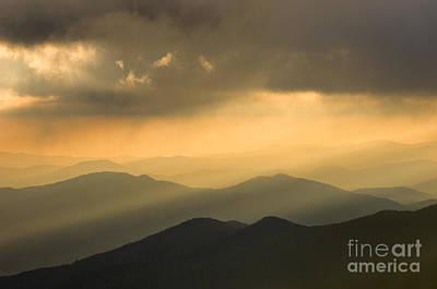 Photograph - Golden Light On The Blue Ridge - D009553 by Daniel Dempster