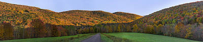 Art Print featuring the photograph Golden Light On The Catskills by Mark Papke