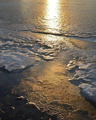 Digital Art - Golden Light On The Lake Ice  by Lyle Crump