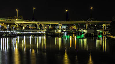Photograph - Golden Tampa Bridge by Paula Porterfield-Izzo