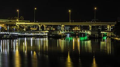Photograph - Golden Tampa Bridge by Paula Porterfield-Izzo