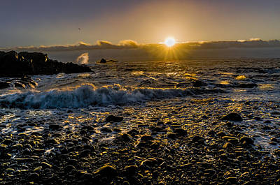 Photograph - Golden Light Seascape by Marty Saccone