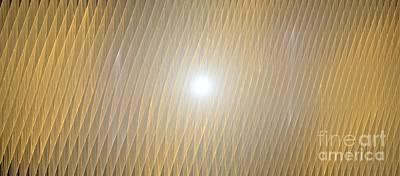 Digital Art - Golden Light Waves by Kim Sy Ok