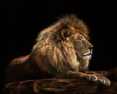 Painting - Golden Lion by David Stribbling