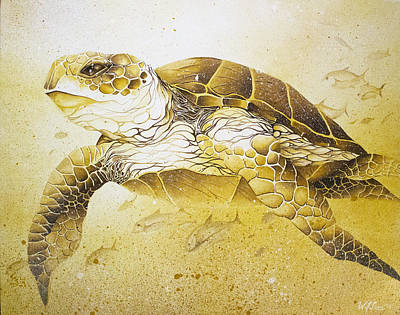 Golden Loggerhead Art Print