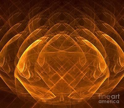 Digital Art - Golden Lotus by Yali Shi