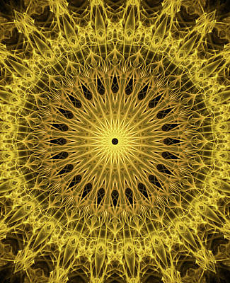Photograph - Golden Mandala by Jaroslaw Blaminsky