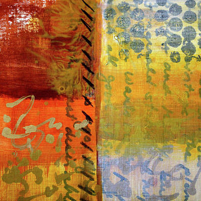 Painting - Golden Marks 01 by Nancy Merkle