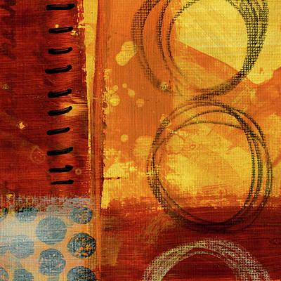 Painting - Golden Marks 10 by Nancy Merkle