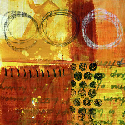 Painting - Golden Marks 2 by Nancy Merkle