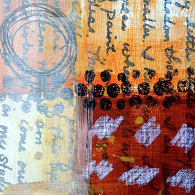 Painting - Golden Marks 3 by Nancy Merkle