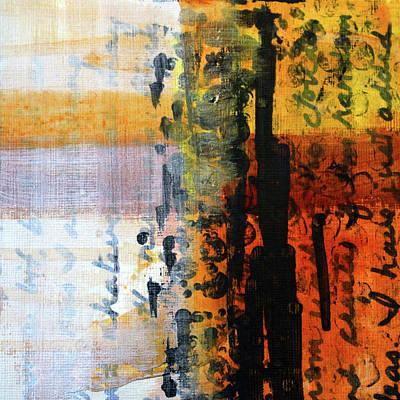 Cruciform Painting - Golden Marks 4 by Nancy Merkle