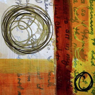 Painting - Golden Marks 5 by Nancy Merkle