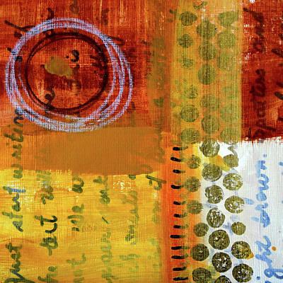 Painting - Golden Marks 6 by Nancy Merkle