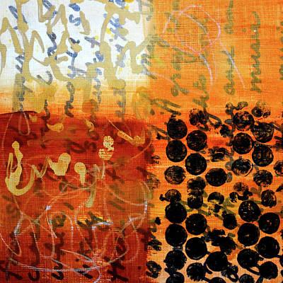 Painting - Golden Marks 7 by Nancy Merkle