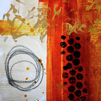 Painting - Golden Marks 8 by Nancy Merkle