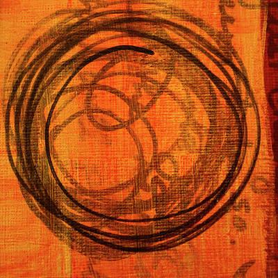Painting - Golden Marks 9 by Nancy Merkle