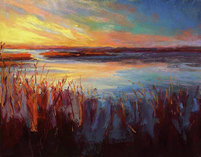 Painting - Golden Marsh by Susan Jenkins