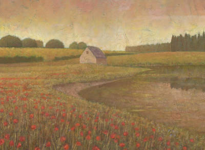 Painting - Golden Meadow 1 by Steve Mitchell