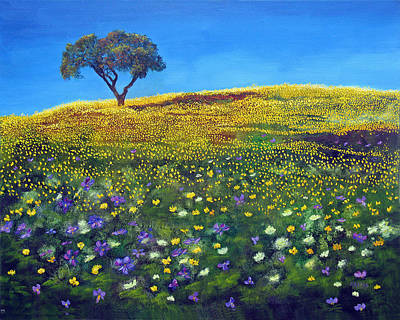 Painting - Golden Meadow  by Marina Petro