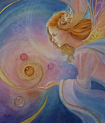 Visionary Art Painting - Golden Mean by Victoria Lisi