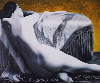 Golden Art Print by Melissa Fiorentino