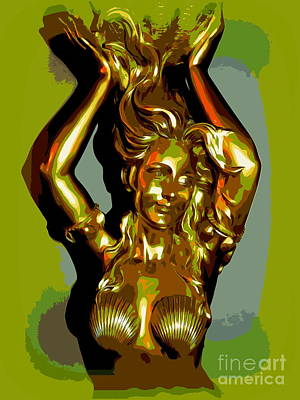 Digital Art - Golden Mermaid by Ed Weidman
