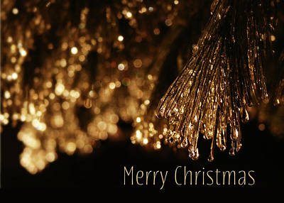 Winter Storm Digital Art - Golden Merry Christmas by Lori Deiter