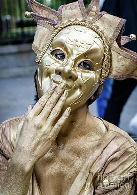 Photograph - Golden Mime - Nola by Kathleen K Parker