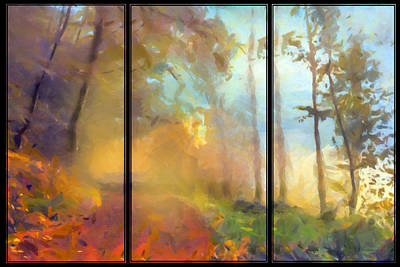 Painting - Golden Mist Landscape by Georgiana Romanovna