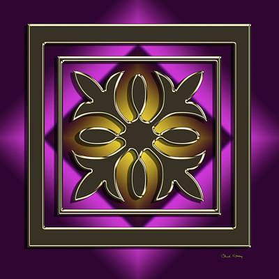 Digital Art - Golden Mocha On Purple by Chuck Staley