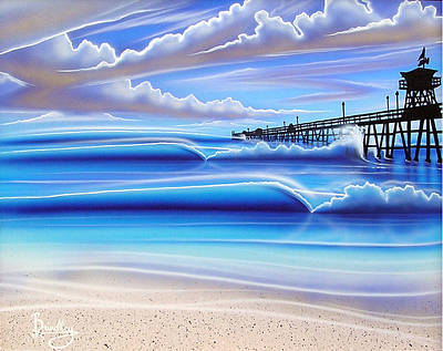 San Clemente Painting - Golden Moment by Michael  Brindley